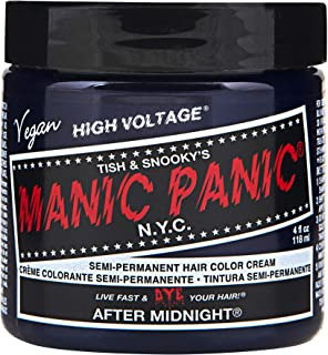 Manic Panic After Midnight Hair Dye – Classic High Voltage - Semi-Permanent Hair Color - Vivid, Navy Blue Shade - For Dark & Light Hair – Vegan, PPD & Ammonia Free - For Coloring Hair on Women & Men