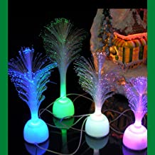 Fiber Optic LED Trees - LED Color Changing Trees - Christmas Decorations - Lit Trees for Christmas Houses and Holiday Scene