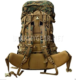 New Genuine Issue GI US Army Military Usmc Gen 2 Marpat Digital Camouflage Tan Woodland Ilbe Main Pack with Lid Belt Shoulder Straps Radio Pouch Complete Surplus Arcyteryx