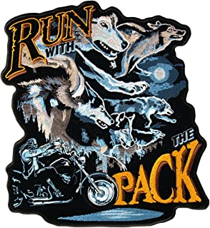 Hot Leathers Run With The Pack Patch (5 Width x 5 Height)