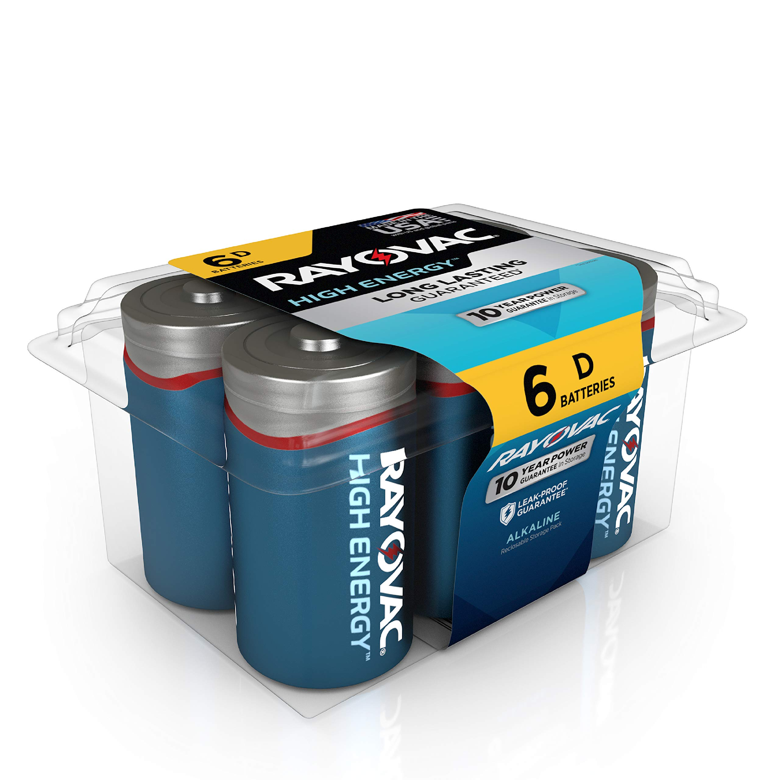RAYOVAC 6 Pack Alkaline Batteries 813 6PPK