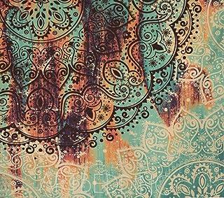 Tapiz De Mandala, Pared Psicodélica De Flor Bohemia Hippie Decoración Colgante Para Sala De Estar Dormitorio (4,230X150cm)