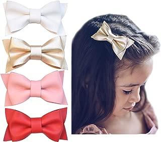 toddler gold hair bow