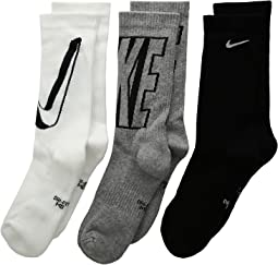 Nike Kids - Performance Cushioned Crew Training Socks 6-Pair Pack (Little Kid/Big Kid)