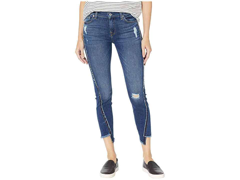 Image of 7 For All Mankind Ankle Skinny in Alluring Indigo (Alluring Indigo) Women's Jeans