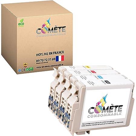 COMETE 603XL 4 Cartouches d'Encre Compatibles avec EPSON 603 XL Multipack pour imprimante Expression Home XP-2100 XP-2105 XP-3100 Workforce WF-2810 1 Noir + 1 Cyan + 1 Magenta + 1 Jaune