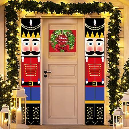 Soldier Model Nutcracker Banners Christmas Decorations   #D Outdoor Xmas Decor