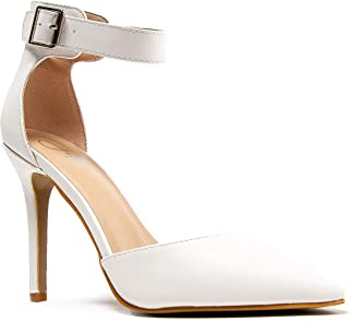 J. Adams Shelly D'Orsay Pumps - Oppointed Ankle Strap Sexy Stiletto High Heels