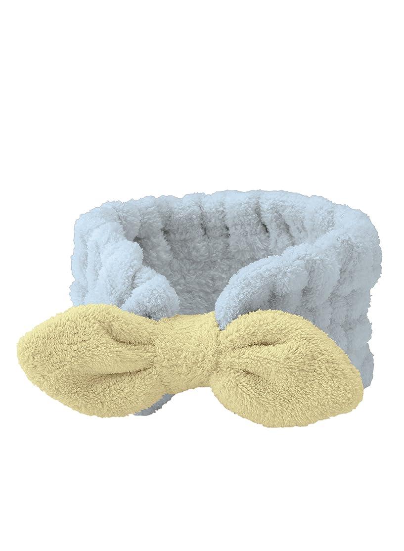 若者マーガレットミッチェル代表するシービージャパン ヘアバンド ブルー 吸水 速乾 ふわふわ 洗顔 マイクロファイバー カラリモア carari