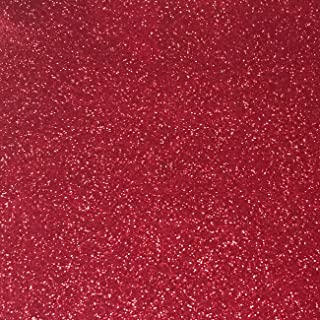"""Red Glitter Cardstock - 10 Sheets Premium Glitter Paper - Sized 12"""" x 12"""" - Perfect for Scrapbooking, Crafts, Decorations, Weddings"""