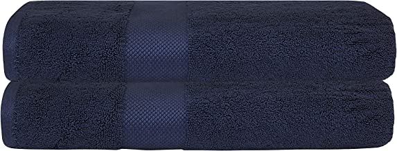 """Bumble Luxury Thick Bath Towels / 30"""" x 60"""" Premium Bath Sheet/Ultra Soft, Highly Absorbent 800 GSM Heavy Weight Combed Cotton (Navy, 2 Pack)"""