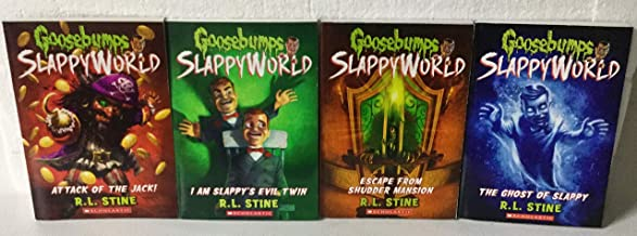 R.L. Stine's Goosebumps Slappyworld 4 Books Collection: #2 Attack of the Jack! #3 I am Slappy's Evil Twin, #5 Escape from Shudder Mansion, & #6 The Ghost of Slappy