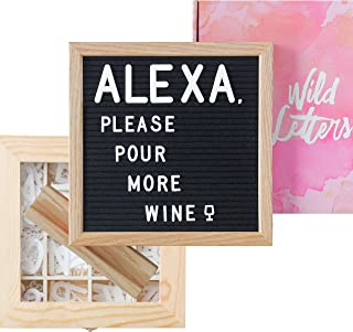 Letter Board with Letters 10x10 Felt Letterboard Accessories  +Organizer +Pre-Cut +Large Letters +Stand  Black, Letterboards, Changeable, Message Board, Box, Baby Announcement, First Day of School