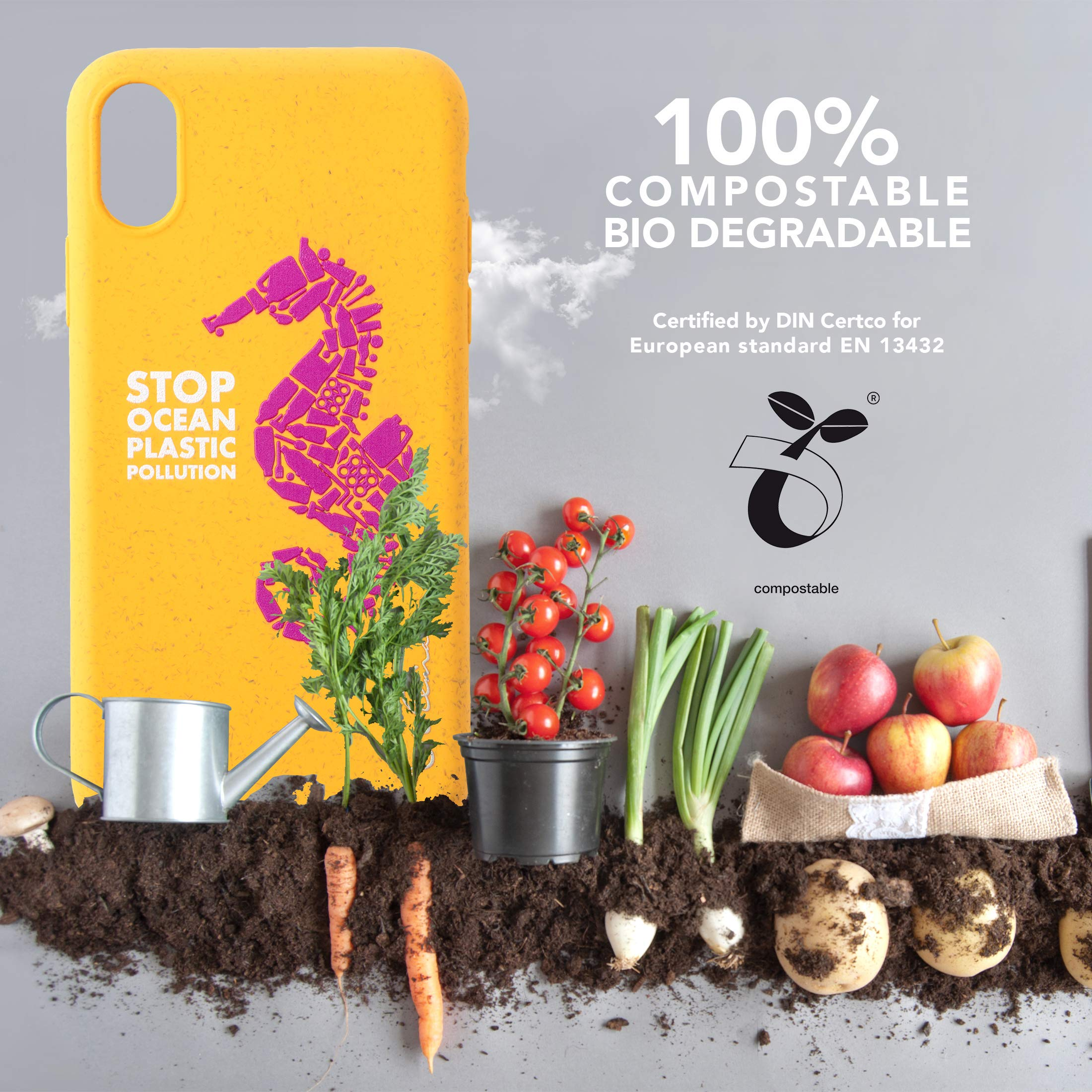 Funda Biodegradable Ecológica Wilma Compatible con iPhone XR, Stop ...