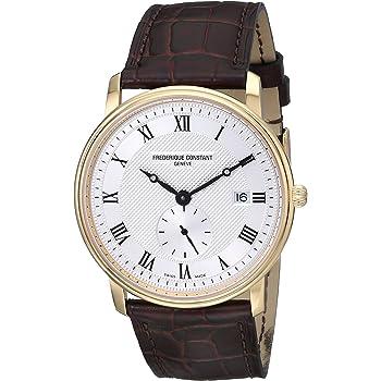 Frederique Constant Men's FC-245M5S5 Slim Line Silver Dial Roman Numerals Watch
