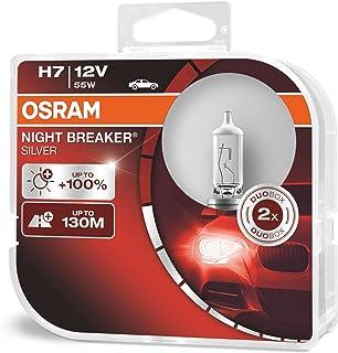 OSRAM 64210NBS-DUO NIGHT BREAKER SILVER H7, +100% more brightness, halogen headlamp, 64210NBS-HCB, 12V, passenger car, duo...