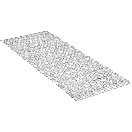 Tatay Alfombra de Bañera Antideslizante de PVC con Ventosas, Resistentes a Moho y Microbios, Anti-Bacteriano, Diseño Piscis, Blanco. Medidas 97 x 36 cm