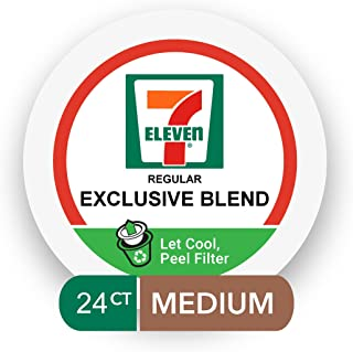 7-Eleven Coffee Single Serve Cups 24 Count (Exclusive Blend, 2 boxes of 12 Pods)