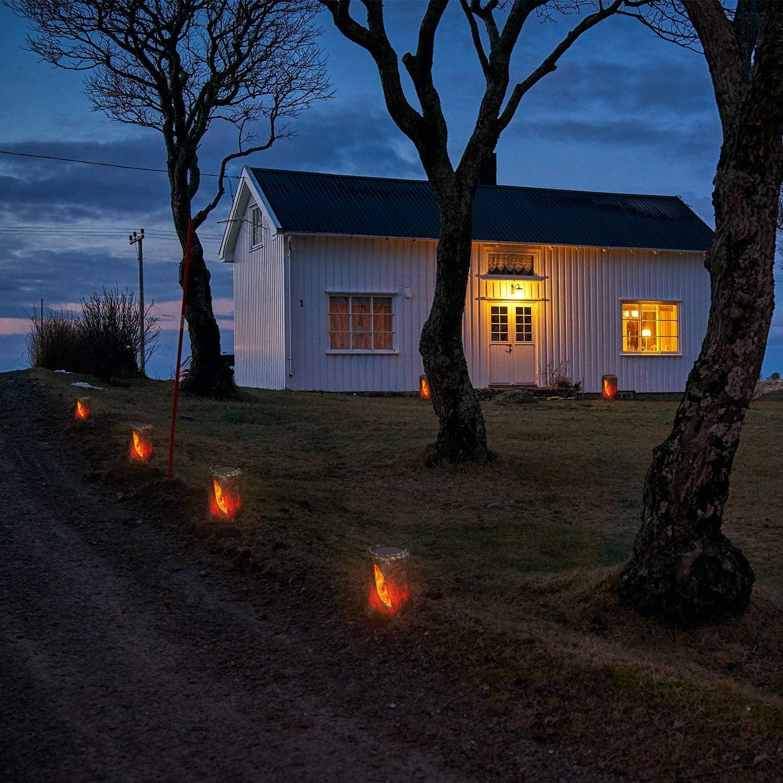 Garten-Landschaftsleuchte Stra/ßendekorationsleuchte lichtempfindliche automatische Ein-//Ausschaltung SIMPDIY simuliertes Flammen-Solarplatzlicht wasserdicht Garten 2 St/ück
