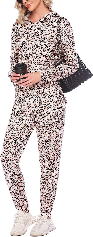 Ekouaer Sweatsuits Set Womens 2 Piece Sweatshirt & Sweatpants Hoodie Tracksuits Sportswear with Pocket