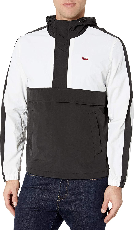 Alternative dealer Levi's mens Lightweight Taslan Boston Mall Jacket Popover Hooded Windbreaker
