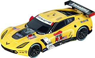 Carrera Go Chevroly Corvette C7-R Car Slot Racing Vehicle, Yellow
