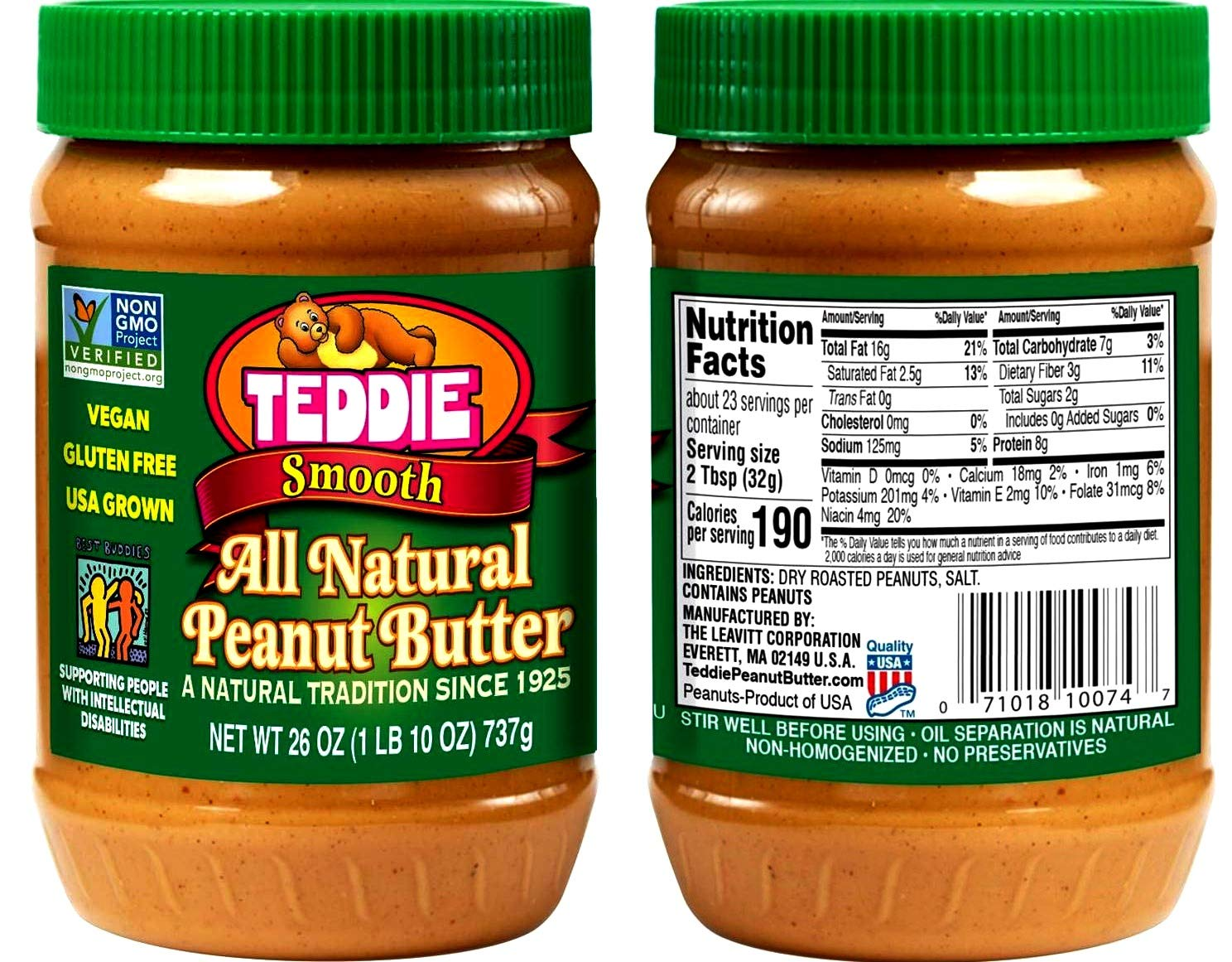 Dedication Delicious Peanut Butter Max 70% OFF Teddie Edition Natural All