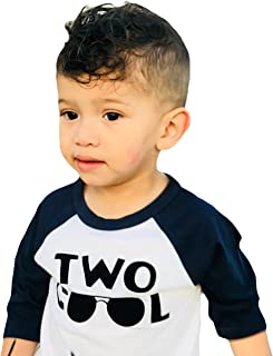 Two Cool 2nd Birthday Shirt for Toddler Boys 2nd Birthday Shirt Boy 3/4 Sleeve Two Cool