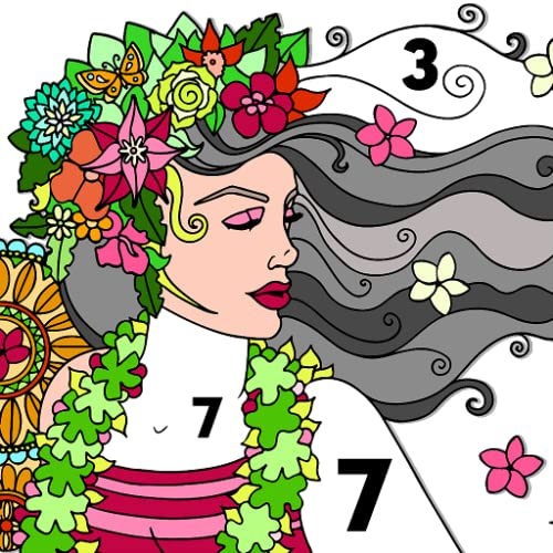Beauty Color By Number - Girls Fashion Coloring Book