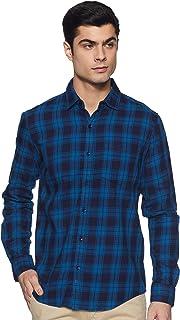 Diverse Men's Checkered Regular Fit Casual Shirt