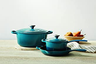 Le Creuset Enameled Cast Iron Signature Cookware Set, 5 pc. , Deep Teal
