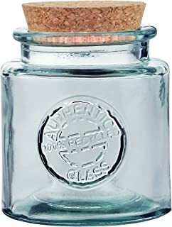Couronne Company Authentic Glass Jar with Cork, G5688-C, 500ml, 1 Piece, Clear