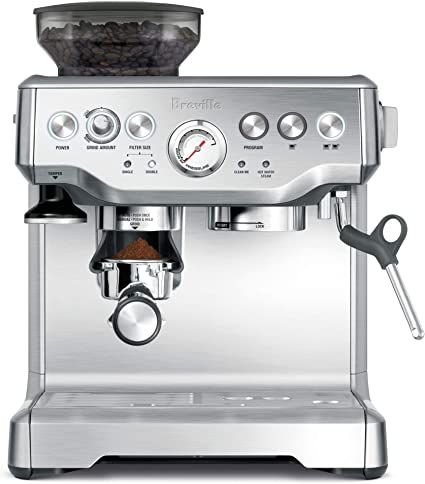 Breville Barista stainless steel grind and brew coffee machine