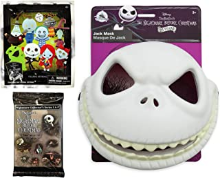 Toy Zero NBC Nightmare Pack Mini Figure Jack Skellington Pumpkin King Mask Playset + Pint Size Mini Keychain Figure Character Blind Bag & Trading Movie Card Scenes Bundle