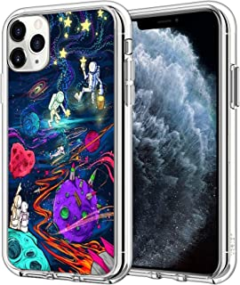 Compatible with iPhone 12 Case iPhone 12 Pro Case Trippy Psychedelic Star Astronaut Clear Slim Protective Phone Cover, Tri...