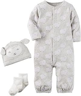 Carter's Baby 3 Piece Lamb Hat and Onesie Set