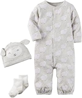 Carter's Baby 3 Piece Lamb Hat and Onesie Set