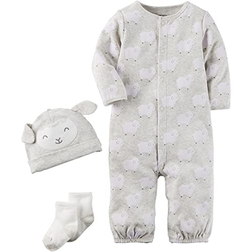 6d2d6d8b74 Carter s Baby 3 Piece Lamb Hat and Onesie Set