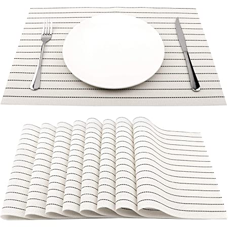 Details about  /S4Sassy Stripe Reversible Table Decor Placemat Reversible Dining Mat-ST-543H