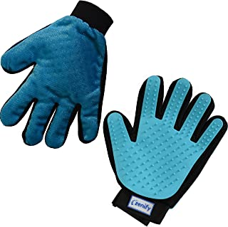 Zenify Pet Grooming Glove - for Cat Kitten Dog Puppy Rabbit Horse - Dual Sided 2-in-1 Upgrade Version Machine Washable Enh...