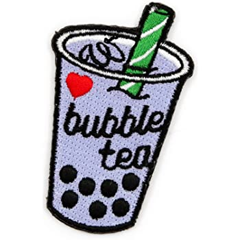 Bubble Bobba Milk Tea Drinks Iron On Patch Applique Sewing