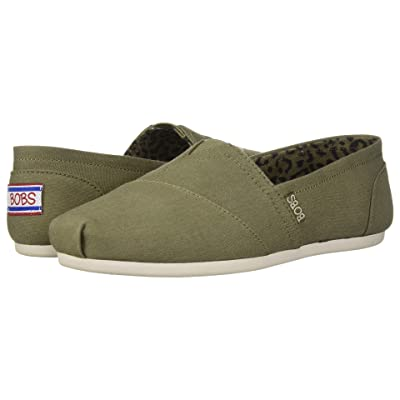 BOBS from SKECHERS Bobs Plush Peace and Love (Olive) Women