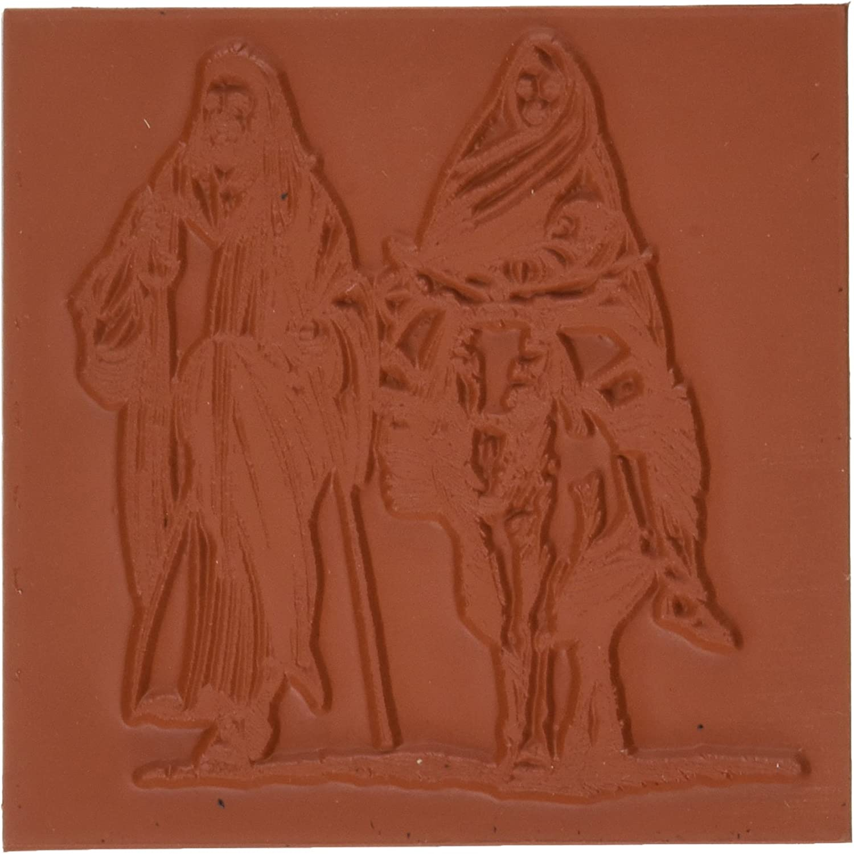 Deep rot Stamps Tief Rot Briefmarken Gummi selbst 8,26cm x 3.5-inch-holy Familie