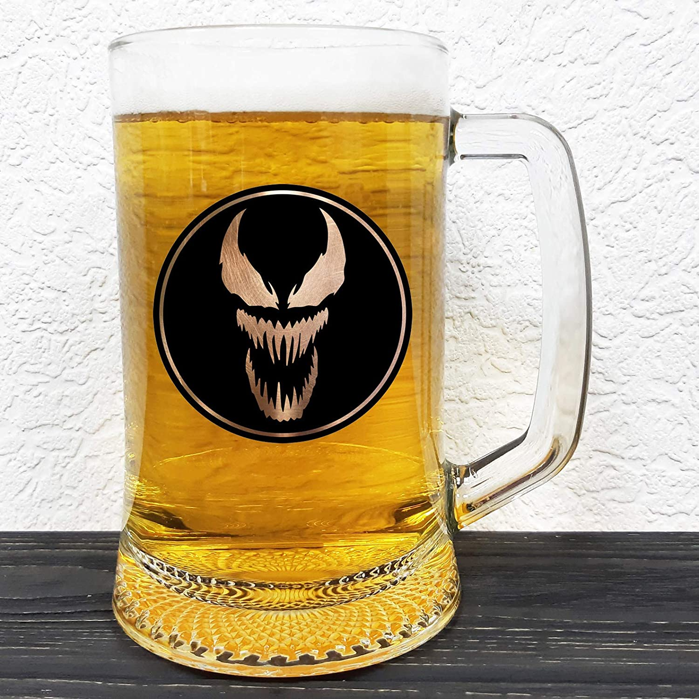 Venom Glass Beer Mug - Groomsman Gift Comics Easy-to-use Sales Marvel Stein
