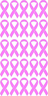 50 Breast Cancer Awareness Ribbon Car Sticker Decal 1