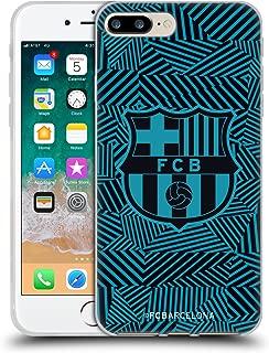 Official FC Barcelona Black 2017/18 Crest Soft Gel Case Compatible for iPhone 7 Plus/iPhone 8 Plus