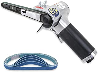 SP Air Corporation SP-1370A 10MM 3/8-Inch Belt Sander with (5 Extra) Zirconia Belts