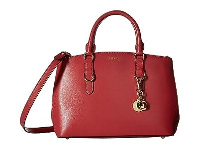 LAUREN Ralph Lauren Bennington Saffiano Zipped Satchel (Raspberry Gelato) Satchel Handbags