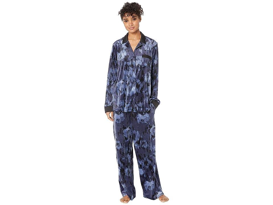 Donna Karan Notch Collar Pajama Set (Caspian Print) Women