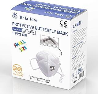 AUPROTEC 20 Stück kleine FFP2 Maske Atemschutzmaske EU CE 0370 Zertifiziert EN149:2001+A1:2009 Mundschutz 4 lagig mit inne...
